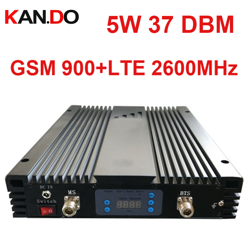 5W 37dbm 85dbi GSM+4G DUAL Band Repeater AGC/MGC 900+2600MHz Signal Booster GSM Repeater Lte 4G BOOSTER No Interfer Base Station