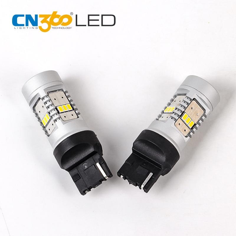 Cn360 в 2шт 3020 14SMD 7440 светодиодные резервный свет поворота лампы Автомобильный сигнал Сид 2 лет Гарантированности 12В 780lm бассеина Белый 6500k