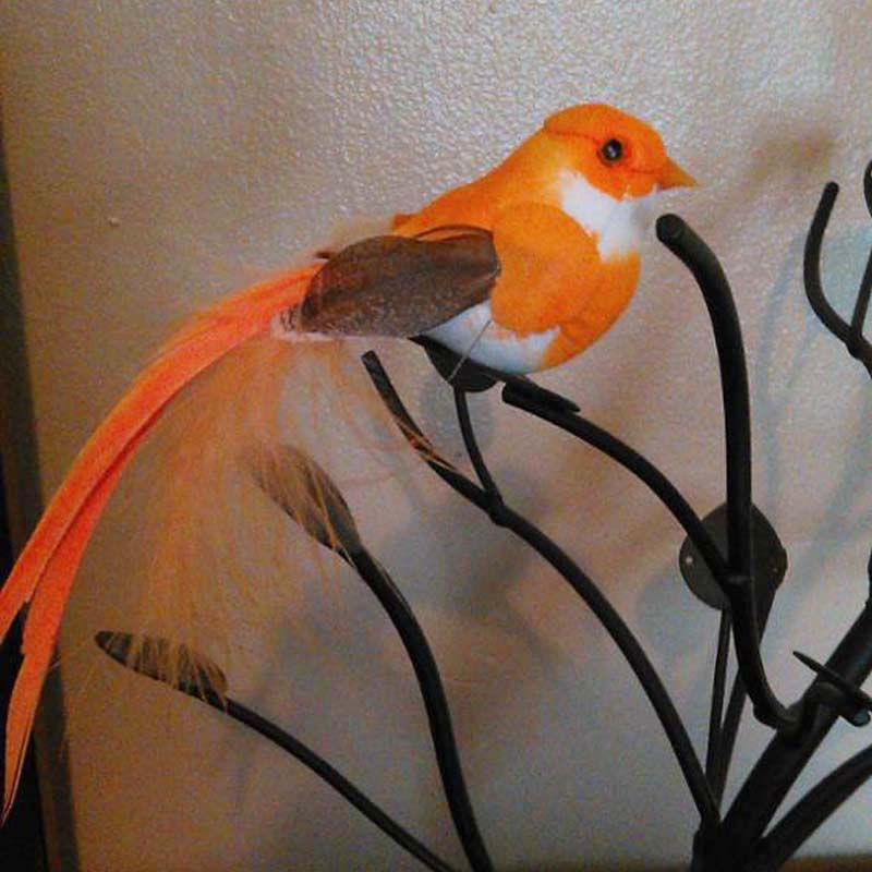 12 3cm 6colors 12pcs decorative birds artificial foam for Artificial birds for decoration