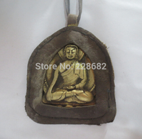 Collectible Decorated Handwork old tibet brass buddha statue big Pendants fast shiping