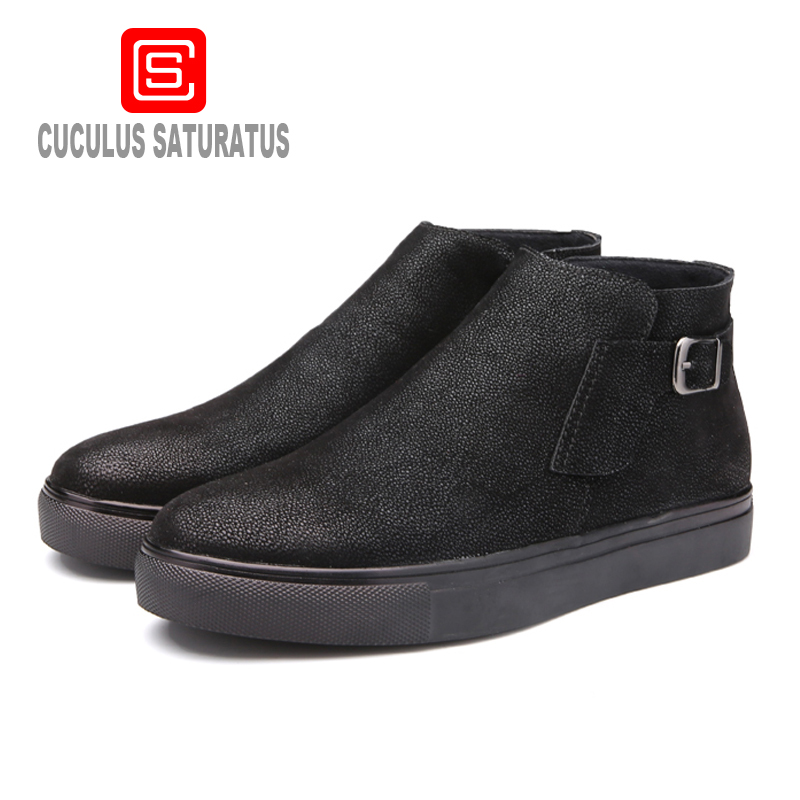 Cuculus Men Casual Ankle Boot Shoes 2017 New Autumn Spring Summer Fashion brand shoes man boots Eur Size 39-44 444 new 2016 medium b m massage top fashion brand man footwear men s shoes for men daily casual spring man s free shipping