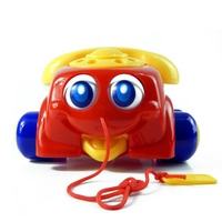 Funny Random Color Music Sounding Toy Telephone Baby Walking Toys Basic Chatter Telephone Toys