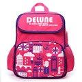 Delune Brand 1-3 Grade Kids Backpack Schoolbag for Boys Girls New Design Cute Cartoon School bags Top Quality Printed SchoolBags