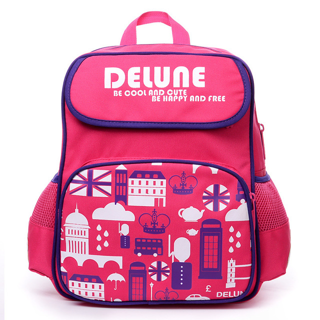 9b9d32d16ef1 Delune Brand 1-3 Grade Kids Backpack Schoolbag for Boys Girls New Design  Cute Cartoon