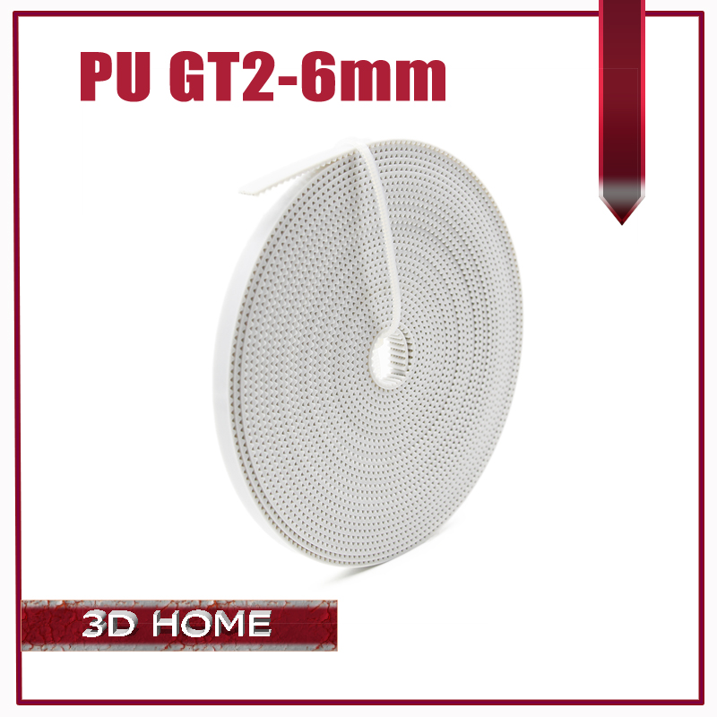 2M/lot PU with Steel Core GT2 Belt 2GT Timing Belt 6mm Width 2M a Pack for 3d printer Free Shipping free shipping 1 2m 100