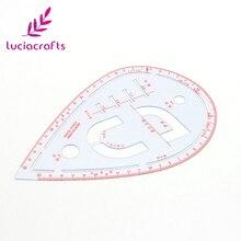Lucia crafts 1 шт./лот 13,2*20,8 см Кнопка позиционирования карманы воротник рисунок линейка портного кривой швейные инструменты J0121