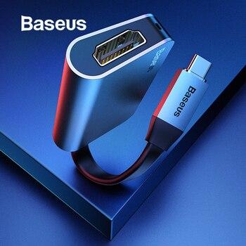 Baseus 2in1 USB tipo C 3,0 HUB para tipo C a 4 K HDMI + tipo C PD 60 W cargador de Flash OTG HUB convertidor Compatible dispositivos tipo C