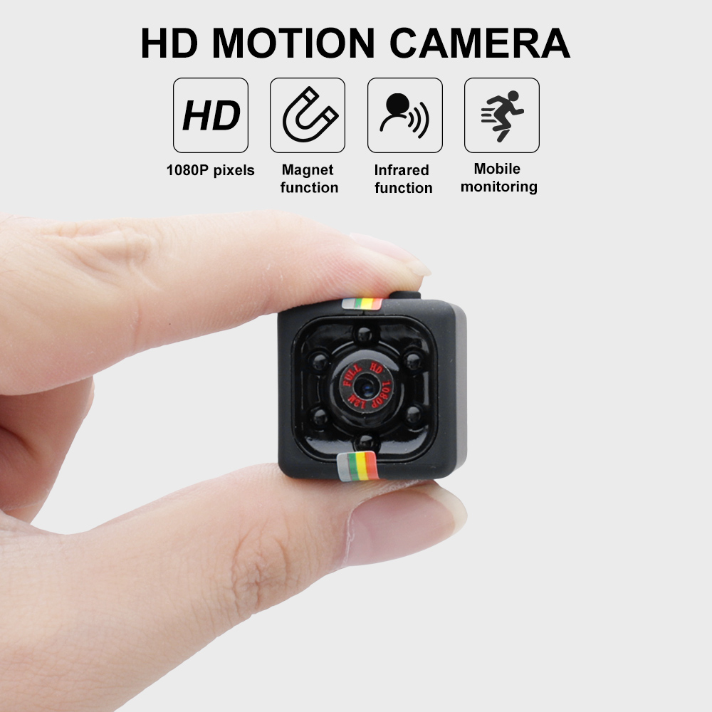 BORUIT SQ11 Mini Camcorder Camera DVR Sensor Video Motion Night-Vision Sport 1080P HD