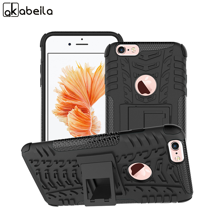 AKABEILA Military Armor Kickstand Phone Case Cover For Apple iPhone 6S Plus 6 Plus iPhone6S Plus iphone6S Cases 2 in 1 Hybrid