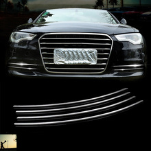 Mobil Styling ABS Chrome Depan Belakang Lampu Kabut Menutupi Trim untuk Audi A6 C7 2012 2013 2014 2015 2016