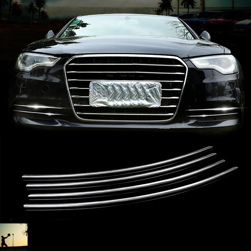 car-styling ABS chrome front rear fog lamps cover trim For Audi A6 C7 2012 2013 2014 2015 2016 car styling hot sale abs chromed front behind fog lamp cover 2pcs set car accessories for volkswagen vw tiguan 2010 2011 2012 2013