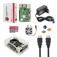 Newest Raspberry Pi 3 Model B+ + Acrylic Case + Fan + SD Card +2.5A Power Adapter + HDMI Cable + Heat Sink for Raspberry Pi 3 B+