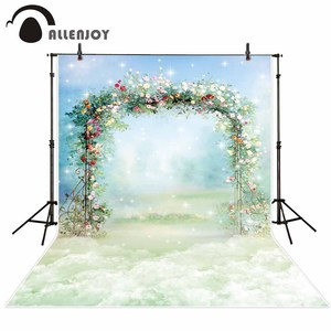 Image 2 - Allenjoy Fotografie Photophone Achtergrond Schilderij Bloem Boog Frame Bruiloft Lente Pasen Kind Achtergrond Photocall Photobooth