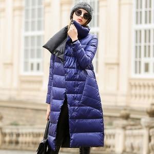 Image 3 - Duck Down Jacket Women Winter 2019 Outerwear Coats Female Long Casual Light ultra thin Warm Down puffer jacket Parka branded