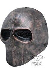 Armee von Zwei partei Maske Fiberglas Airsoft Paintball Helm (Kupfer) dance maske