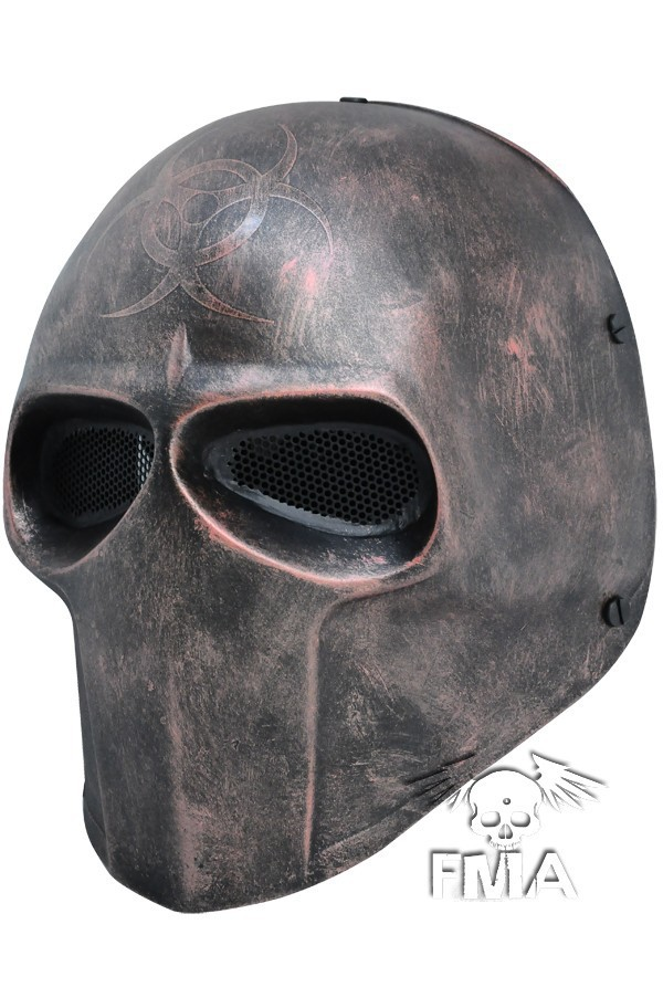 Army Of Two Party Mask Fibreglass Airsoft Paintball Helmet (Copper) Dance Mask