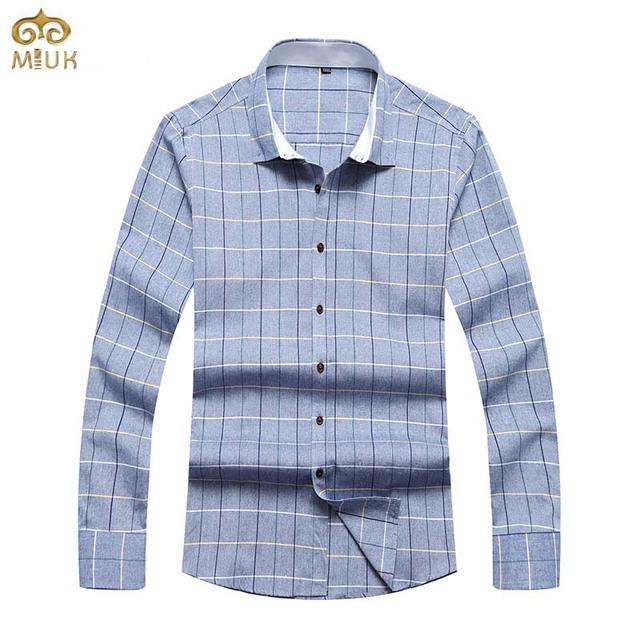 Hommes Miuk 2017 Chemise Taille 6xl Grande Plaid Coton Marque 5xl qq1OHIw