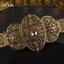 Old Etnica in oro cintura per le donne Caucaso tradizionale abito da sposa catena della vita per le donne di trasporto libero