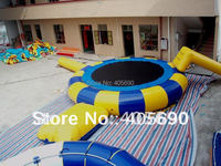 water trampoline inflatable water jumping bed water park toys