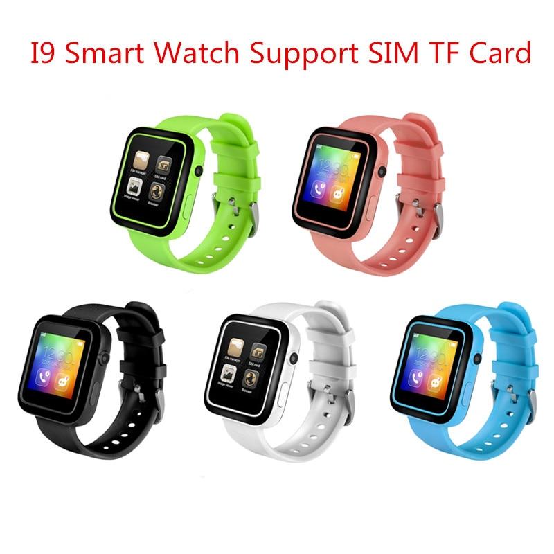 I9 smart watch mtk2502c bluetooth smartwatch con la macchina fotografica mp3/mp4 kid smart watch phone per android ios apple pk dz09 no. 1 D3