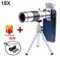 2017 18X Zoom Telefoto Telescópio Lente olho de Peixe Grande Angular Macro lentes para iphone 6 6 s 7 xiaomi redmi note 3 mi4 mi5 mi6 huawei