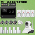 Chuangkesafe Главная/Офис 2.4 Г WI-FI GSM Беспроводная Охранная Сигнализация + Сетевая Камера Для Безопасности