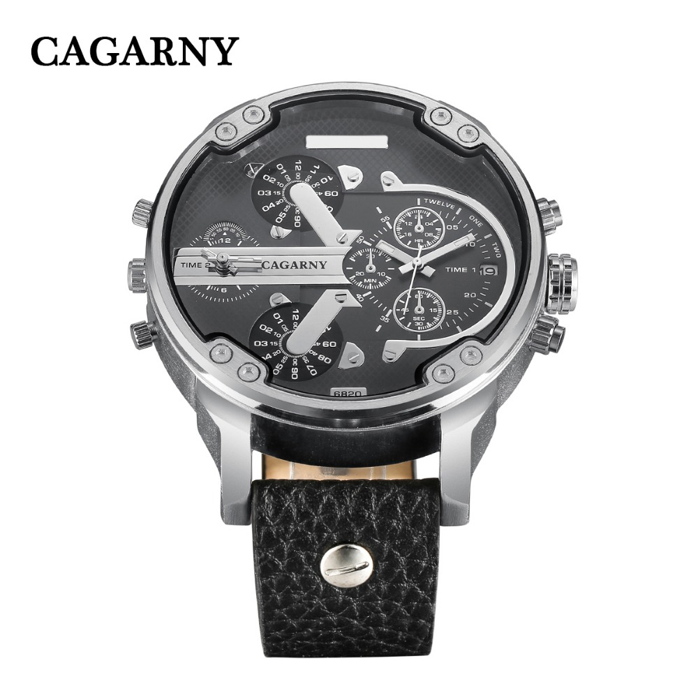 dual time zones military men's watches   (14)