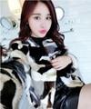 New 100% genuine real natural women mink fur coat women's fahsion short design multicolour overcoat outerwear H160