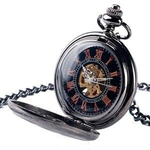 Image 2 - H ollowดอกไม้กรณีวิศวกรรมลมขึ้นนาฬิกาพกสีดำมือคดเคี้ยวStewampunk Fobจี้พยาบาลนาฬิกาที่มีสไตล์