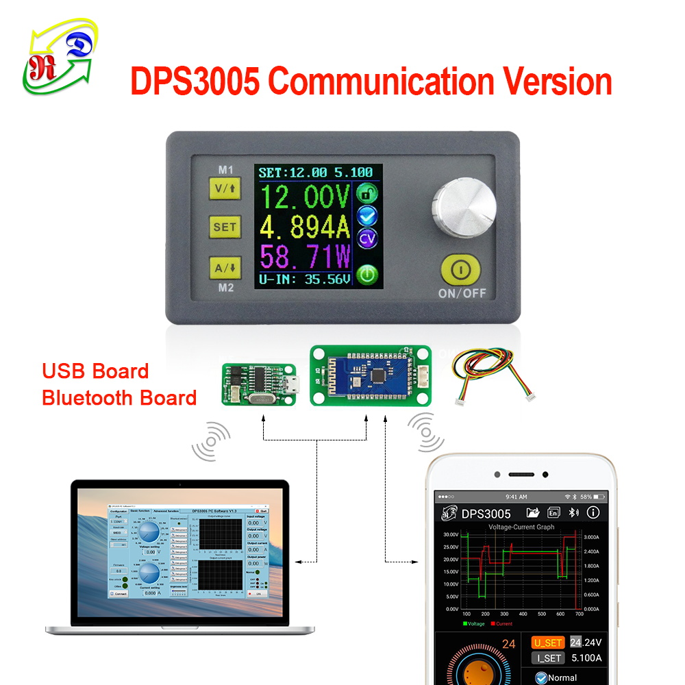 RD DPS3005 Communication Function Constant Voltage current Step-down Power Supply module Voltage converter LCD voltmeter 30V 5ARD DPS3005 Communication Function Constant Voltage current Step-down Power Supply module Voltage converter LCD voltmeter 30V 5A
