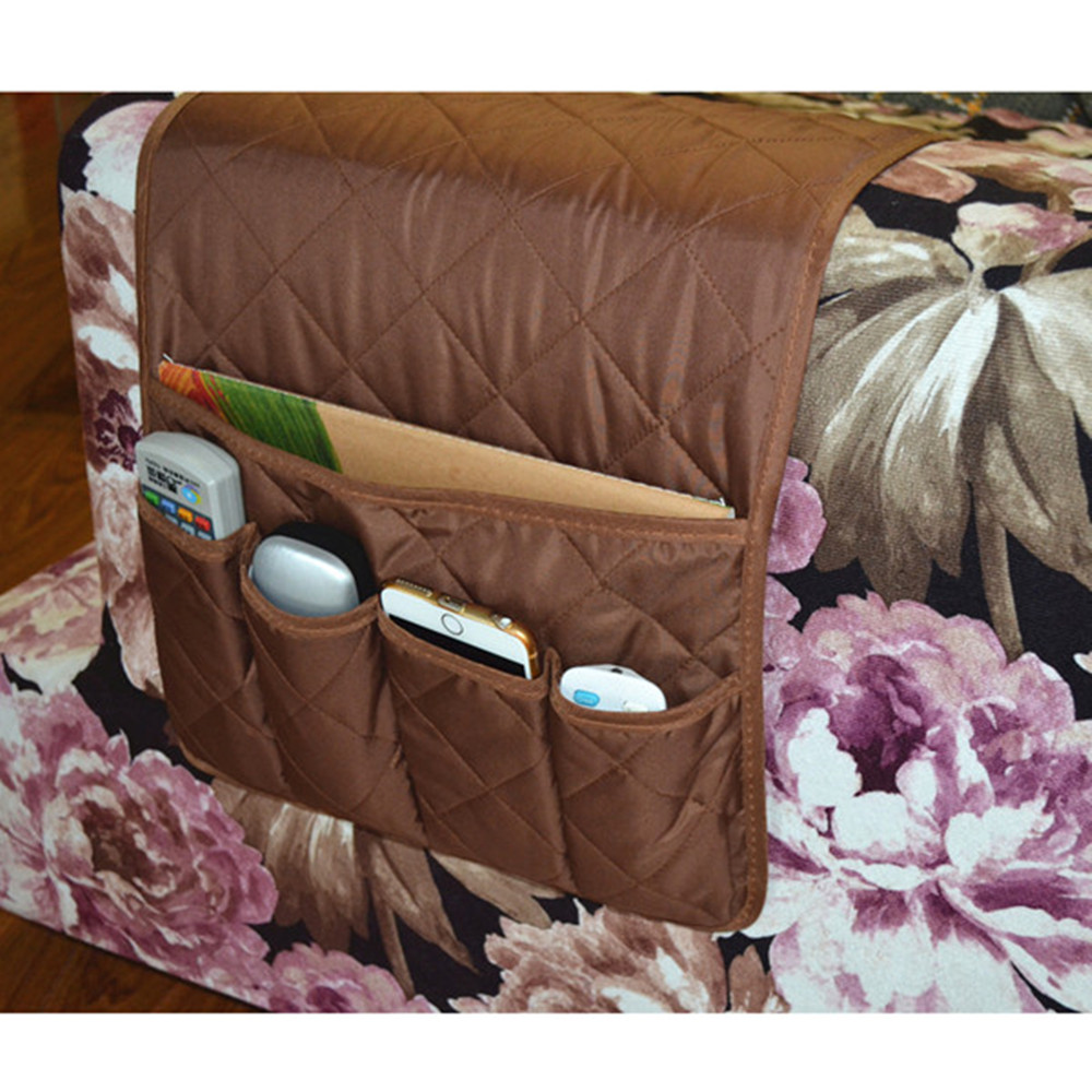 Household Necessity Sofa Couch Organizer TV Remote Control Hanging Storage  Bag Armchair Armrest Organizer For Home