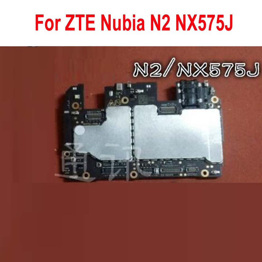 Original Unlock Tested Full Work Motherboard For ZTE Nubia N2 NX575J Mainboard Circuits Electronic Panel Card Fee FPC Flex Cable(China)
