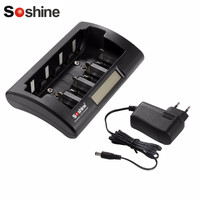 Soshine CD1 Universal Battery Charger Smart Intelligent LCD Display for Ni Cd Ni Mh AAA/AA/C/D/9V Rechargeable Batteries