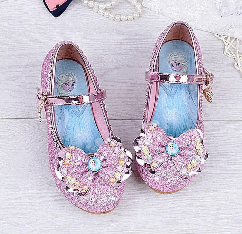 2018 Niños Princesa Sandalias Niños Niñas Crystal Bowtie Zapatos - Zapatos de niños