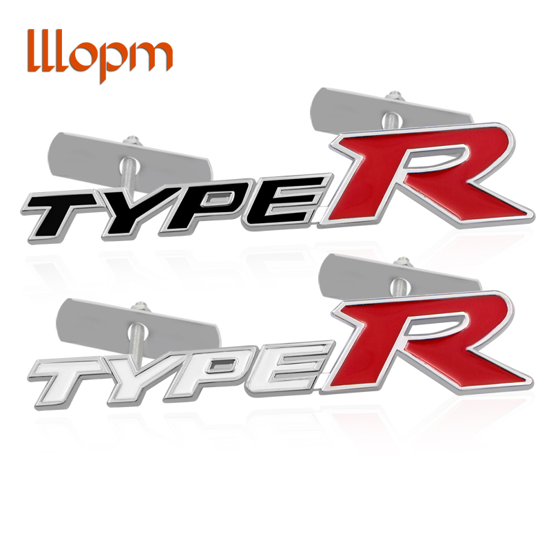 1 шт. Тип R логотип автомобиля Передняя решетка эмблема знак маркировка для Honda City CRV CRZ HRV Accord FIT Stream Crider CIVIC Стайлинг автомобиля