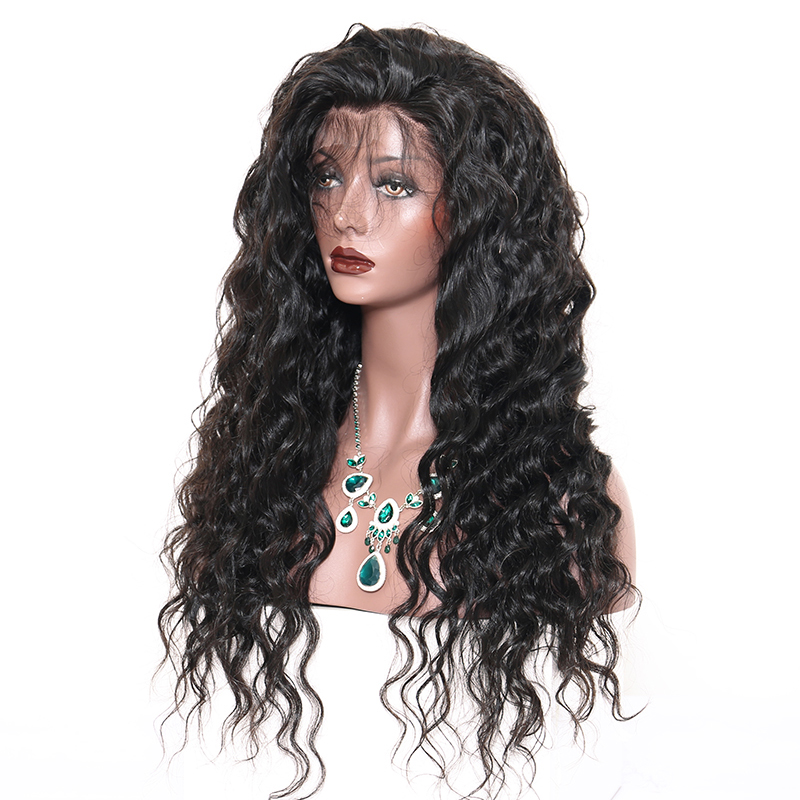 Full Lace Human Hair Wigs Loose Wave Brazilian Wig 130% Density Black For Women Pre Plucked Front With Baby Hair Dolago Remy