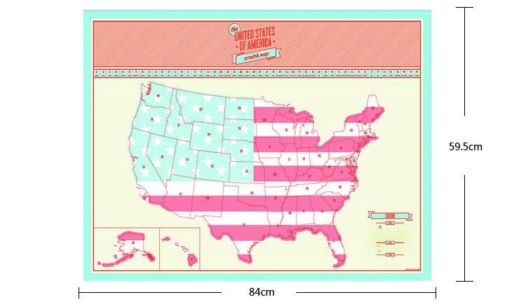 Online Shop American Scratch OFF MAP USA Travel Scratch Map United - Scratch off us map