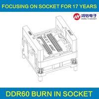 Ddr2 3 4 гореть в Тесты гнездо 60/84/78/96 GDDR3 136 Булавки мяч Булавки шаг 0.8 мм DDR DIMM DRAM для DDR