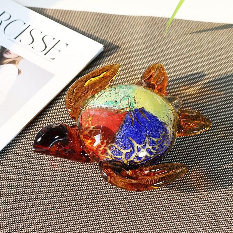 Handmade Sea Turtle Art Glass Blown Sea Animal Figurine