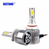 GEETANS Car 9006 HB4 Pure White 6000K COB Chip LED Headlight 72W All In One Car