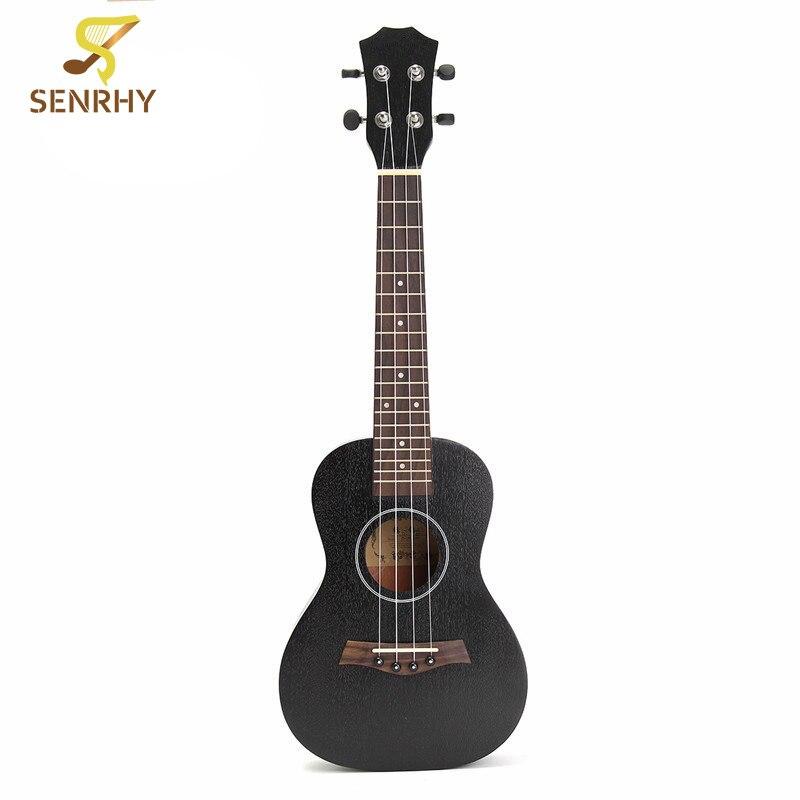 Senrhy 23 pouces noir palissandre touche Concert Ukulele Sapele Hawaii Ukelele Guitarra basse guitare pour Instruments de musique chaud