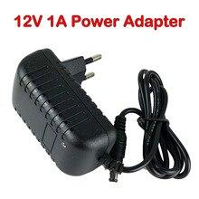 กล้องอะแดปเตอร์/DC 12V 1A Power Adapter EU หรือ US ปลั๊กสำหรับกล้องวงจรปิด 12V