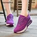 Nuevo 2016 Planos de La Manera Mujeres Entrenadores Superestrella Caminar Al Aire Libre Respirables Del Deporte Zapatos de Mujer Casual Mujeres Pisos Zapatillas Mujer
