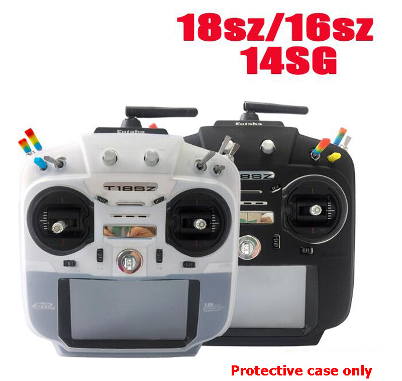 1pcs Silicone Protective Case For Futaba T14SG/18SZ/16SZ Remote Controller Protection Cover Duct Proof Skin Protector For Futaba набор бокалов crystalex оливия б декора 6шт 200мл вино стекло