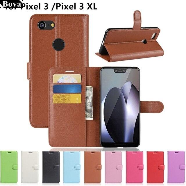 super popular c6ed7 43c29 US $4.51 9% OFF Wallet Cover Card Holder Phone Cases for Google Pixel 3  5.4