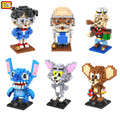 LOZ Mini Models Building Block kit Conan Hakase Agasa Popeye Stitch Tom and Jerry DIY Toy for Boy