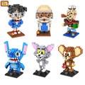 Loz mini modelos building block kit conan hakase agasa popeye puntada tom y jerry diy juguete para niño