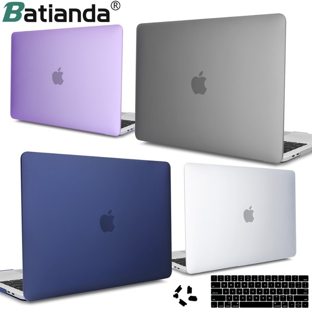 For MacBook Pro 13 15 inch Case 2016 2017 2018 with/without Touch Bar Crystal Frosted Hard Cover Model A1706 A1989 A1990