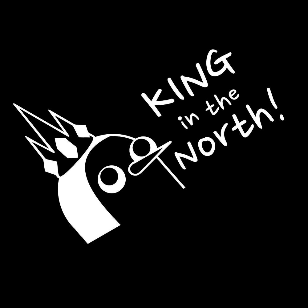 15 10 8cm Funny Personality Stickers Adventure Gunter King In The North Vinyl Car Window Laptop Decal Car Sticker in Car Stickers from Automobiles Motorcycles