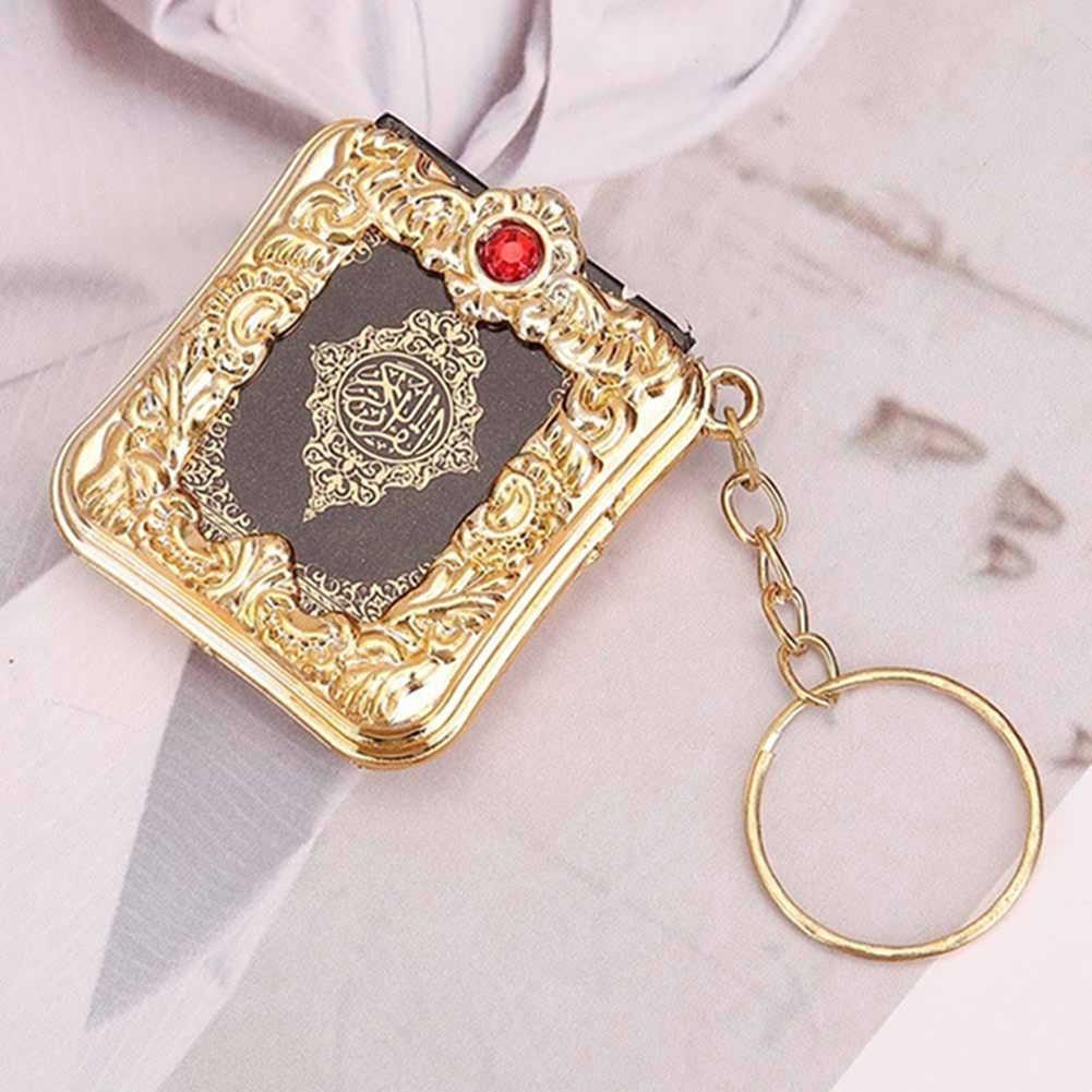 Mini Arca Livro Alcorão Alcorão Muçulmano Pingente Keychain Saco do vintage Decoração Encantos Correntes Chaves Do Carro Bolsa de Jóias